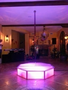 Hollywood stripper pole rentals in california for b-day party