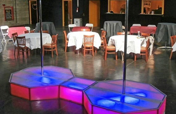 Home All Star Stages Pro Portable Stripper Pole Rentals
