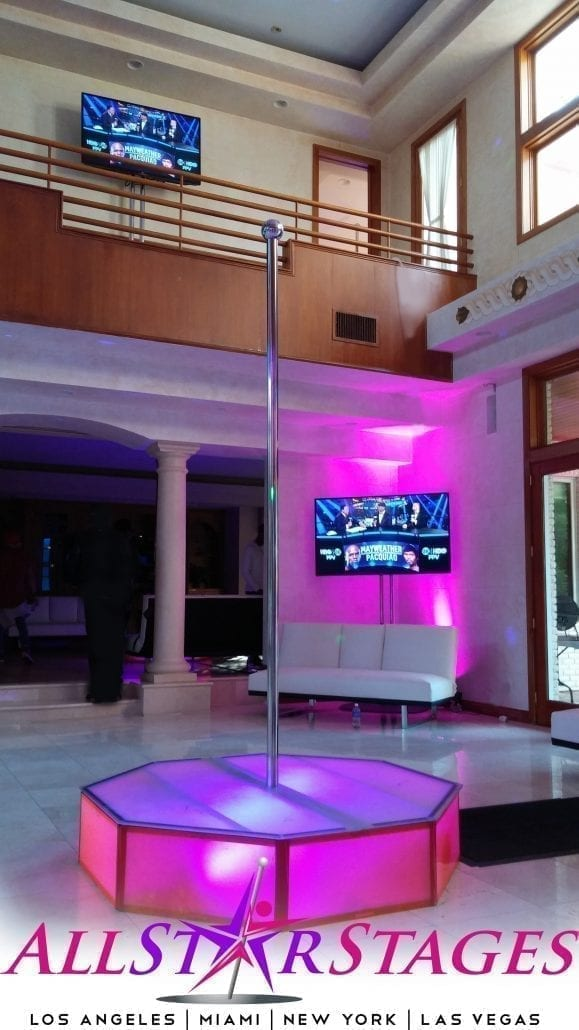 Branded Portable stripper pole for rent los angeles