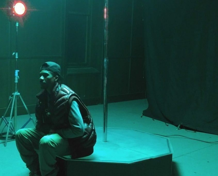 That's A Wrap on GEazy Shoot with All Star Stages Dark Knight Portable Commercial Grade Stripper Pole with a 10ft pro pole and access ball dec 2016 3