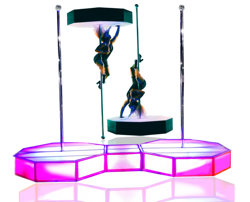 All Star Stages Pro Portable Stripper Pole Rentals For