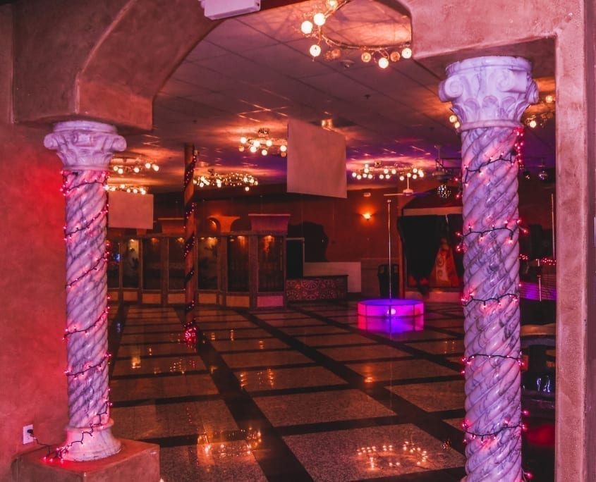All Star Stages Pink Delight in a Marble Ballroom