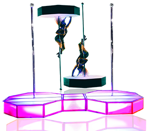 Portable Stripper Pole Rental & Acrylic Stage Delivery for Production Events