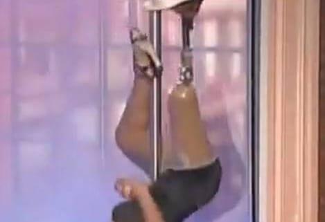 maury one legged stripper