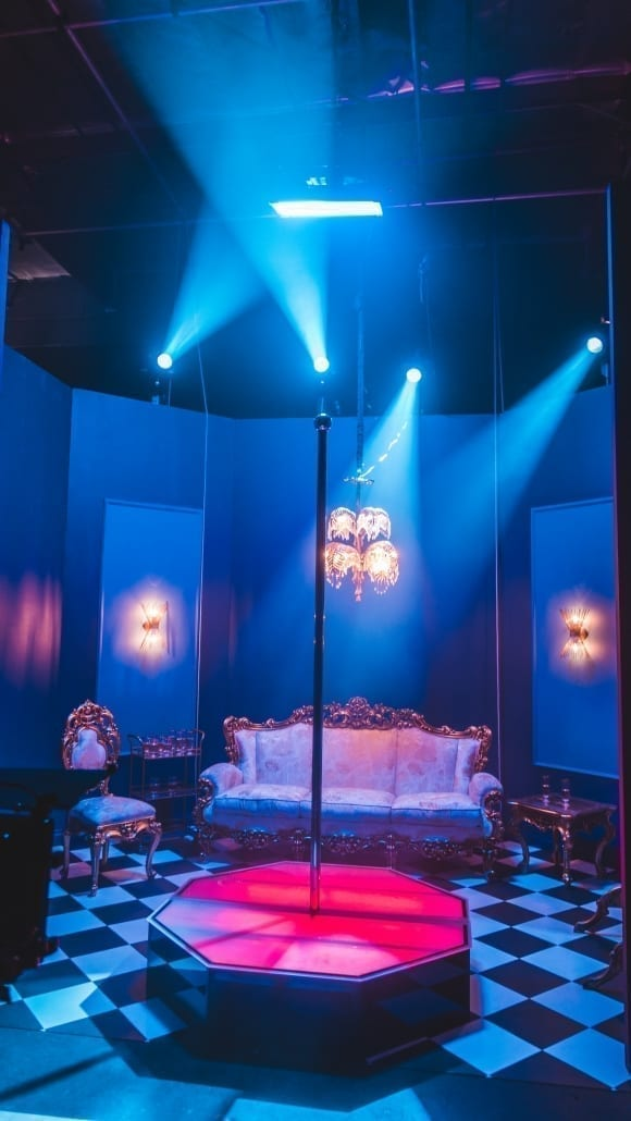 All Star Stages Portable Stripper Pole on Set of YG Tyga Blueface Bop